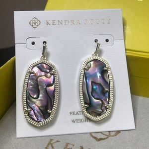 NWT Kendra Scott Gold Elle Earrings in Abalone!